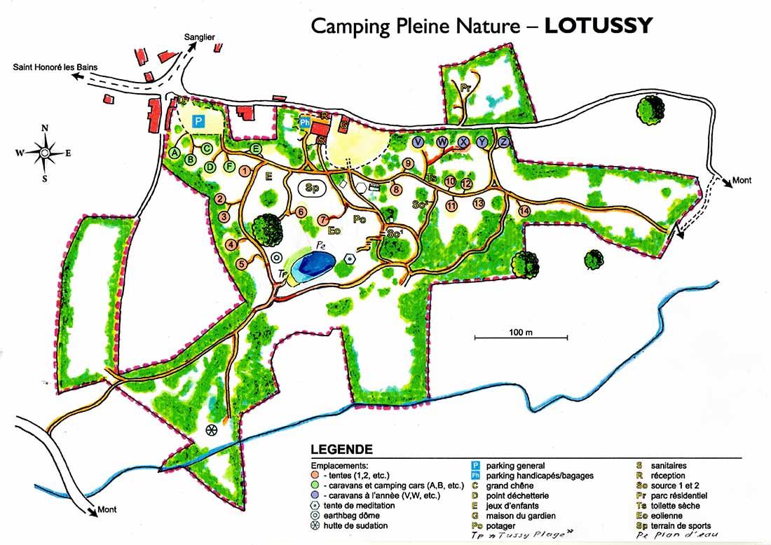 Lotussy Centre de Ressourcement. Mooie natuur rondom Lotussy